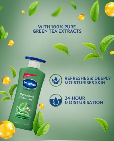 Vaseline Revitalizing Green Tea Body Lotion For Dull And Dry Skin