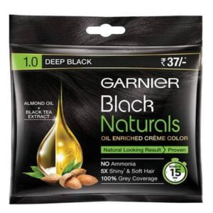 Garnier Man Black Naturals Hair Color, Shade-1 Deep Black jhakaas man
