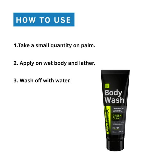Buy Ustraa Body Wash Green Clay for men Intense oil Control