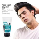 Buy Ustraa Face Wash Dry Skin with Mint Cool