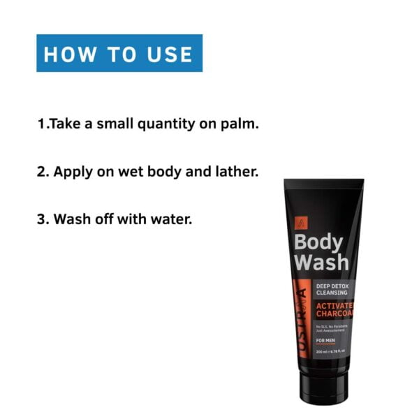 Buy ustraa Body Wash for Men Activated Charcoal