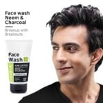 Buy Ustraa Face Wash Acne Control With Neem & Charcoal