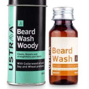 Buy Ustraa Beard Wash Woody for men | Jhakaas Man